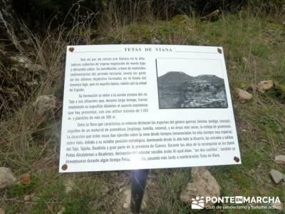 Senderismo Guadalajara - Monumento Natural Tetas de Viana. pueblos abandonados de madrid